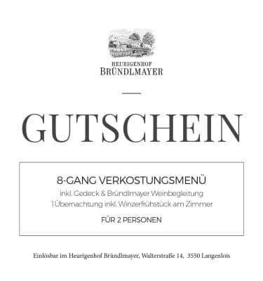 8-GANG VERKOSTUNGSMENÜ inkl. Gedeck & Bründlmayer Weinbegleitung 1Übernachtung inkl. Winzerfrühstück am Zimmer